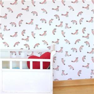 ADzif Shrimps 8 sq ft Pink Adhesive Wallpaper