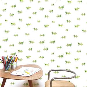 ADzif Locusts 8 sq ft Green Adhesive Wallpaper