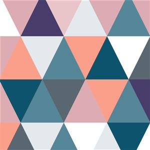 """""""Triangles - Lumineux"""" Papier Peint Adhésif simple & rapide"""