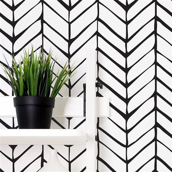 ADzif Black Latte 8 sq ft Easy & Fast Adhesive Wallpaper