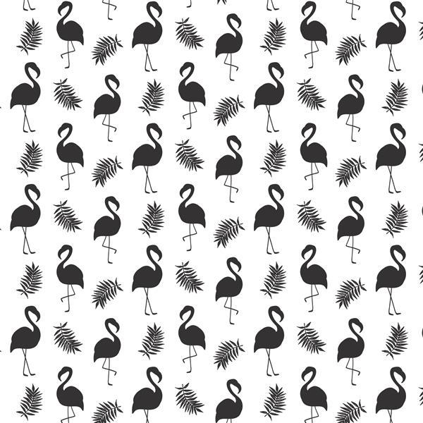 Papier peint adhésif, flamants noirs