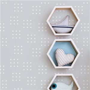ADzif Dominos 8 sq ft Grey Adhesive Wallpaper