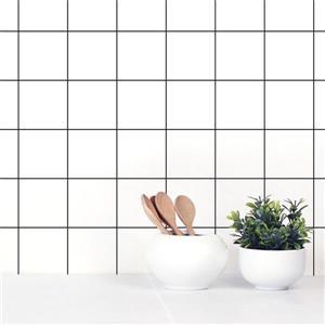 ADzif Grid 8 sq-ft White Adhesive Wallpaper