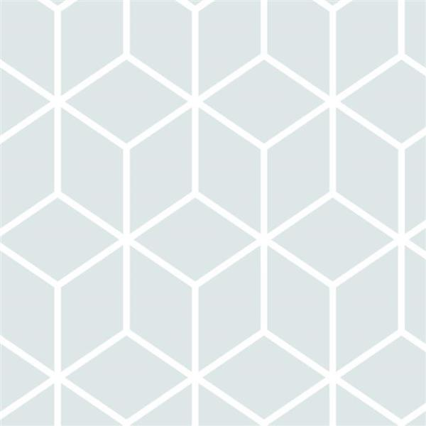ADzif Cubes 8 sq ft Blue Adhesive Wallpaper