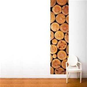 ADzif Logs 2-ft x 8-ft Brown Adhesive Wallpaper
