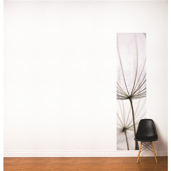 ADzif Dandelions 2-ft x 8-ft White Adhesive Wallpaper