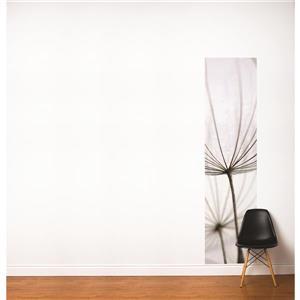 Papier peint adhésif, pissenlits, 2' x 8', blanc