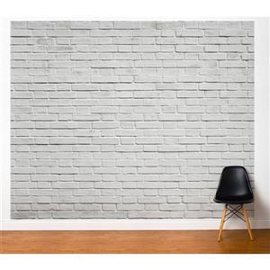 ADzif Bricks 10-ft x 8-ft  Grey/White Adhesive Wallpaper