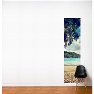 Papier peint adhésif, écume fraiche, 2' x 8', multicolore