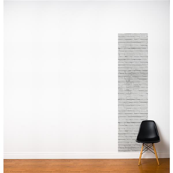 ADzif Bricks 2-ft x 8-ft  Grey/White Adhesive Wallpaper
