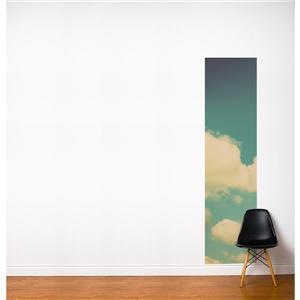 ADzif Paradise 2-ft x 8-ft Blue/White Adhesive Wallpaper