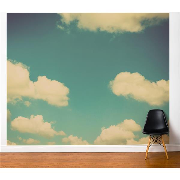 ADzif Paradise 10-ft x 8-ft Blue/White Adhesive Wallpaper