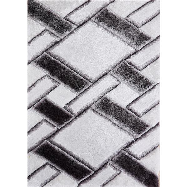Segma Pandora 5-ft x 7-ft White and Black Nova Rug