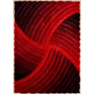 Tapis Ruby, 6' x 9', rouge