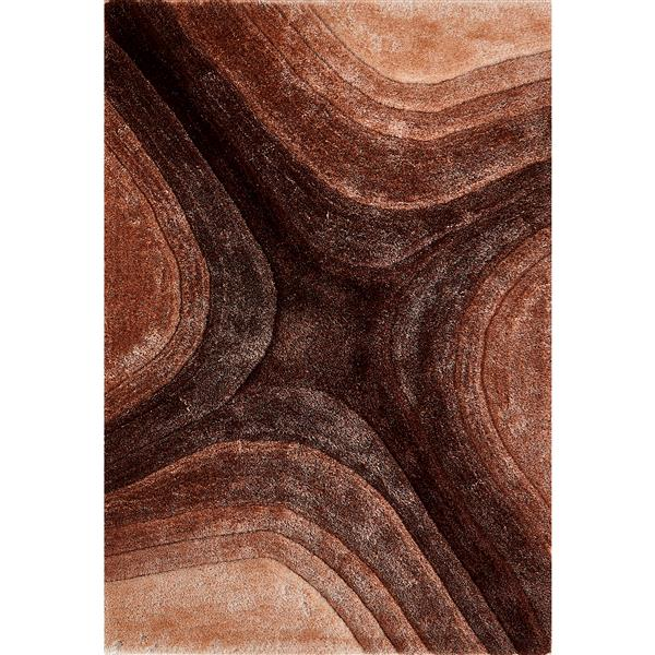 Segma Pandora 5-ft x 7-ft Brown Allison Rug