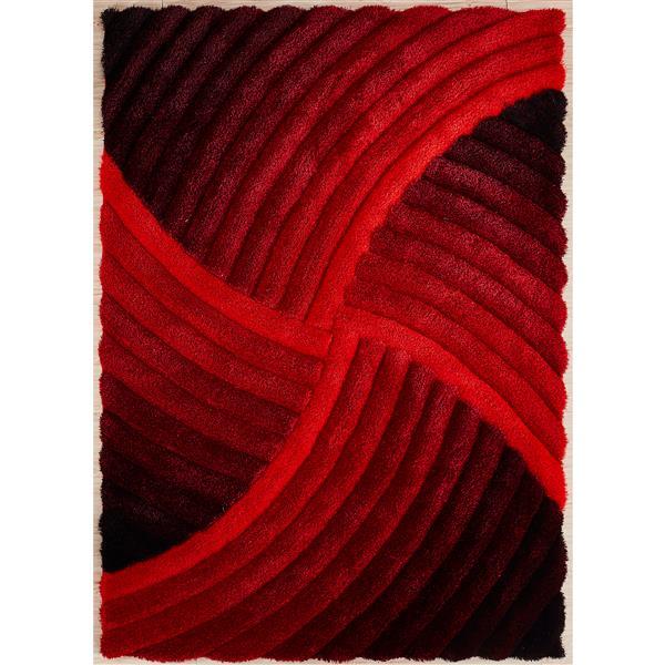 Segma Pandora 6-ft x 7-ft Red Ruby Rug
