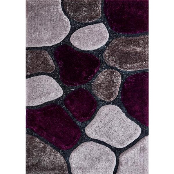 Segma Stella 5-ft x 7-ft Grey Area Rug