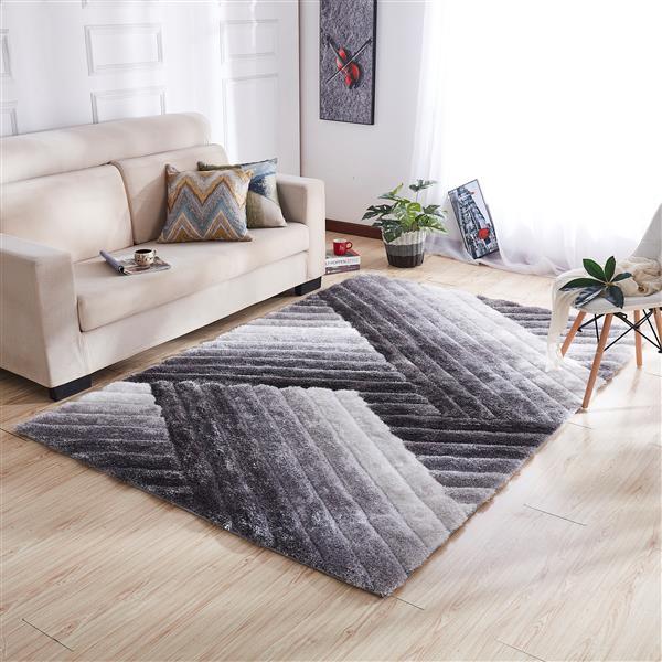 Segma Olivia 5-ft x 7-ft Rectangular Gray Indoor Area Rug