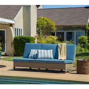 Starsong Ashena Blue & beige Outdoor Double Lounger