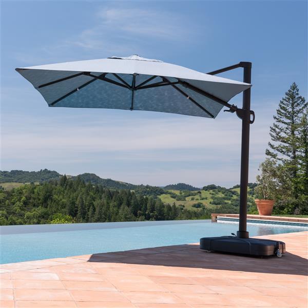 Starsong Denim Blue Square Resort Umbrella