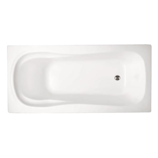 jade baths boston 60-in white podium or drop in tub blw1035-60   rona