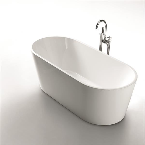 Jade Bath Aura 67-in White One Piece Freestanding Tub