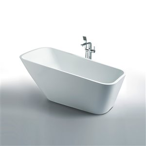 Jade Bath Athenes 67-in White  One Piece Freestanding Tub