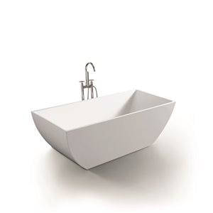 Baignoire New Dawn de Jade Bath, blanc, 67""