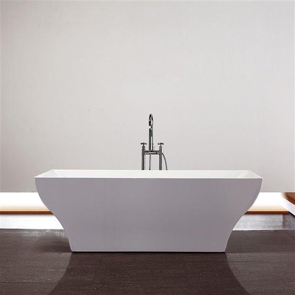 "Baignoire Da Vinci de Jade Bath, blanc, 70"""