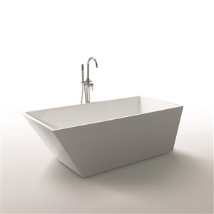 Baignoire Morning Star de Jade Bath, blanc, 67""