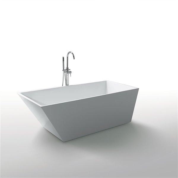 Jade Bath Morning Star 59-in White Freestanding Tub