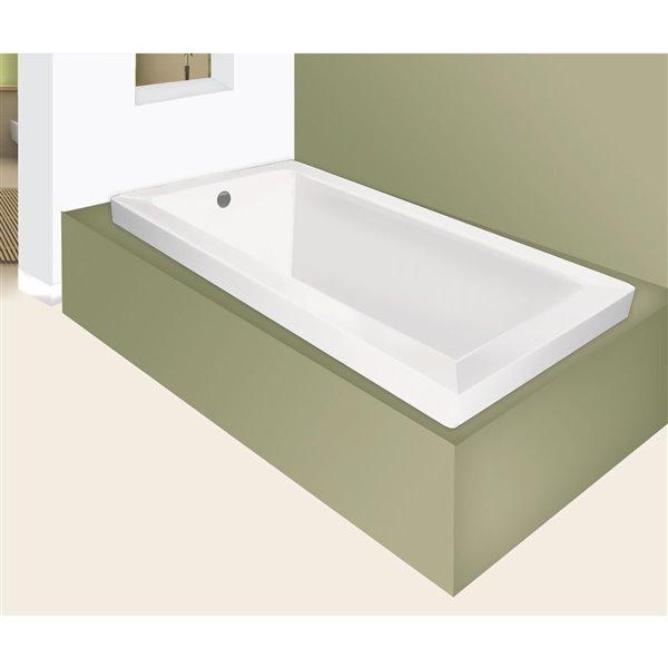 jade baths moderno 66-in white podium or drop in tub blw1023-66 | rona