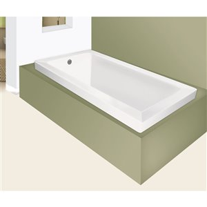 Jade Bath Moderno 66-in White  Podium or Drop In Tub