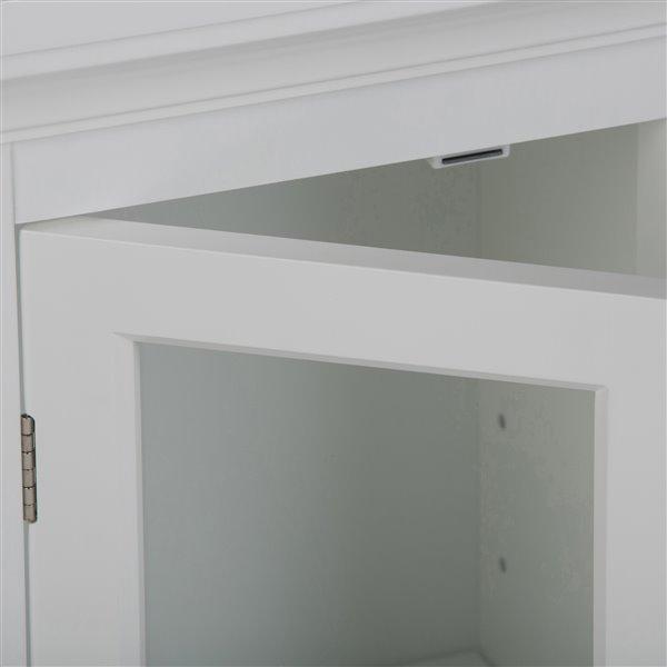 Simpli Home Avington 10-In x 15-In x 27-In White Single Door Wall Cabinet