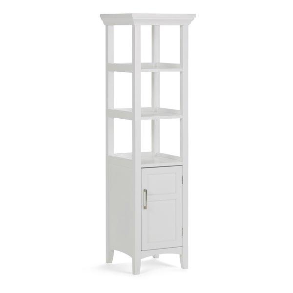Simpli Home Avington 56.30-In x 15.75-In White Bath Storage Tower