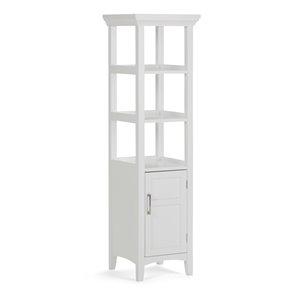 Tour de rangement pour salle de bain Avington, blanc