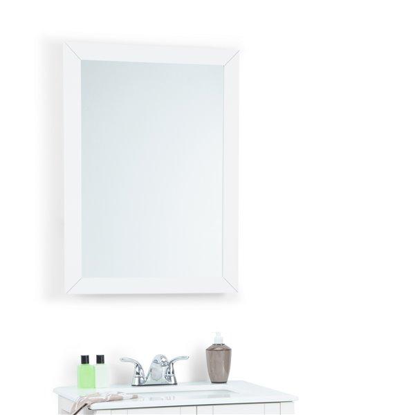 Simpli Home Cape Cod Bath Vanity Décor 22-in x 30-in Off White Mirror