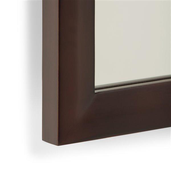 "Miroir décoratif Urban Loft, 22"" x 30"", brun espresso foncé"
