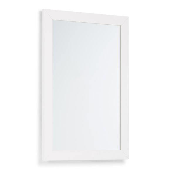 Simpli Home Chelsea Bath Vanity Décor 22-in x 30-in Off White Mirror