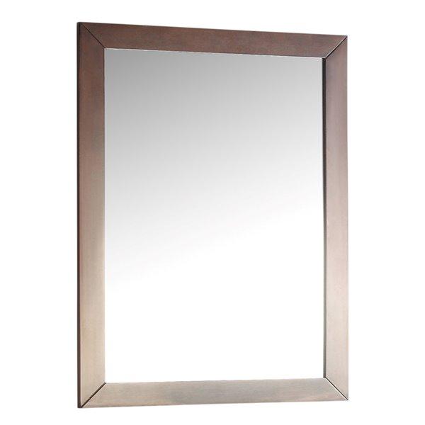"Miroir décoratif Burnaby, 22"" x 30"", brun noyer"