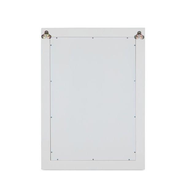 """Miroir décoratif Cambridge, 22"""" x 30"""", blanc cassé"""