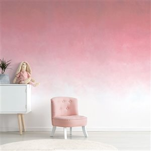 ADzif 10-ft x 8-ft Fading Rose Gradient Adhesive Wallpaper