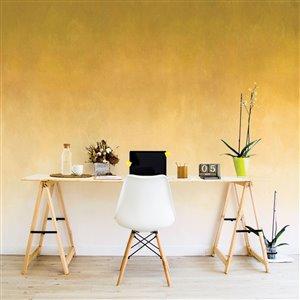 ADzif 10-ft x 8-ft Rising Sunflower Gradient Adhesive Wallpaper