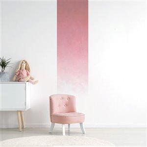 Papier peint adhésif, aquarelle rose passé, 2' x 8'