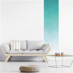 Papier peint adhésif, aquarelle paradis bleu, 2' x 8'