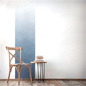 Papier peint adhésif, aquarelle bleu océan, 2' x 8'