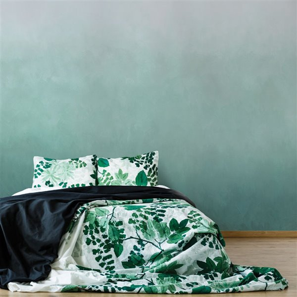 ADzif 10-ft x 8-ft Towards Green Gradient Adhesive Wallpaper