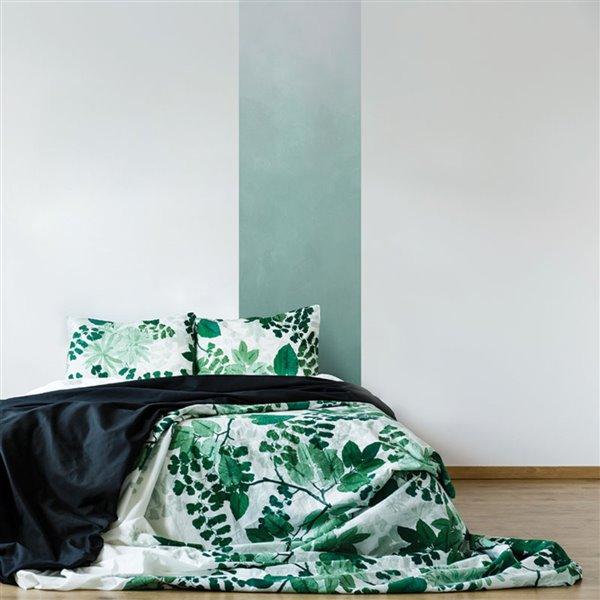 Papier peint adhésif, aquarelle vers le vert, 2' x 8'
