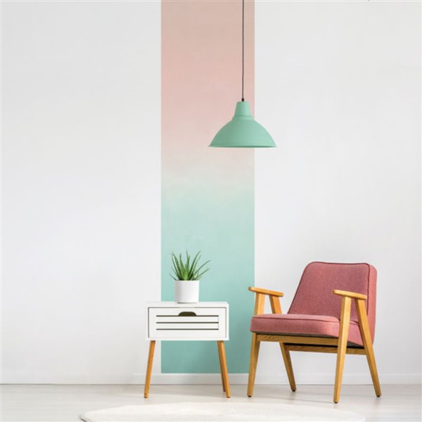 ADzif 2-ft x 8-ft Green to Pink Gradient Adhesive Wallpaper