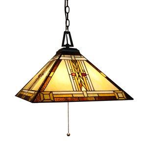 Fine Art Lighting Ltd. Tiffany-Style Pendant Light